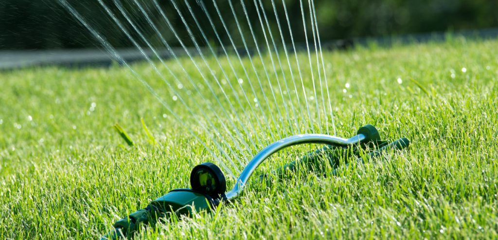 Brownstown homeowner using a simple watering system