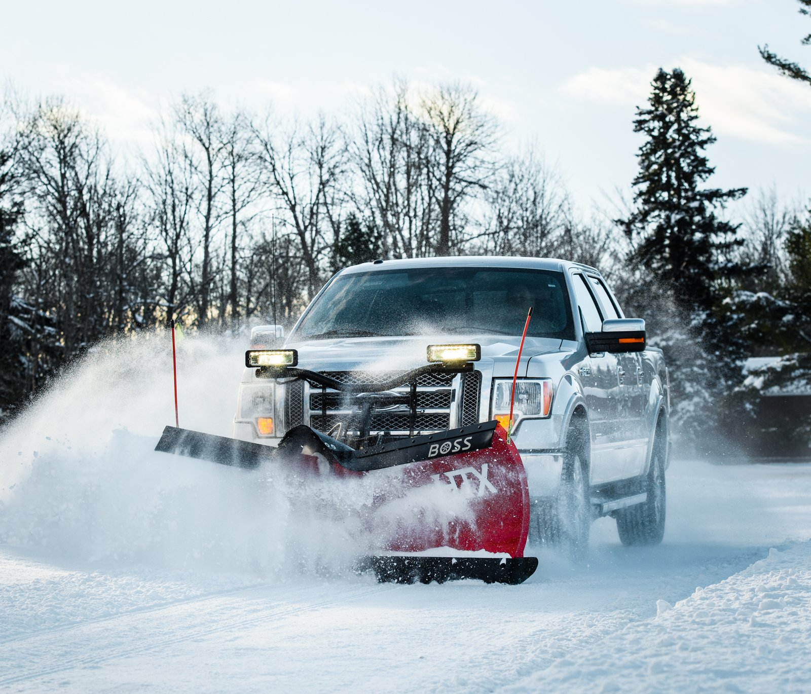 Licensed and Insured snow removal truck
